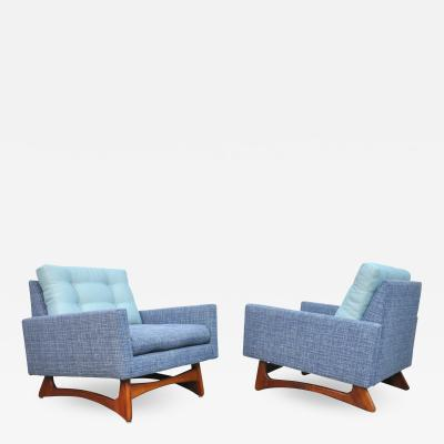 Adrian Pearsall Pair of Adrian Pearsall for Craft Associates Tufted Lounge Chairs
