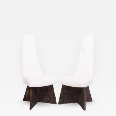 Adrian Pearsall Pair of Dining Chairs by Adrian Pearsall