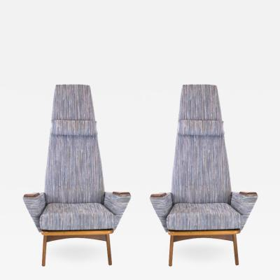 Adrian Pearsall Pair of Slim Jim Lounge Chairs by Adrian Pearsall for Craft Associates