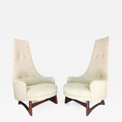 Adrian Pearsall Pair of Tall Back Adrian Pearsall Armchairs for Craft Associates