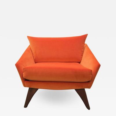 Adrian Pearsall Scrumptious Adrian Pearsall Angular Sculptural Walnut Lounge Chair Mid Century