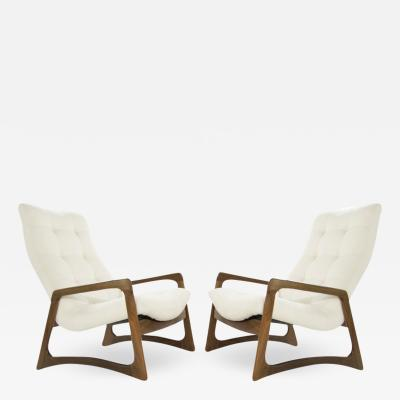 Adrian Pearsall Sculptural Walnut Lounge Chairs by Adrian Pearsall for Craft Associates