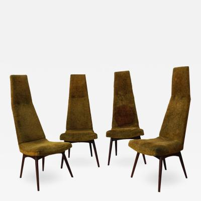 Adrian Pearsall Set of Four Adrian Pearsall High Back Dining Chairs for Craft Associates