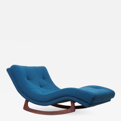 Adrian Pearsall Signed Adrian Pearsall Rocking Chaise in Kvadrat Fabric