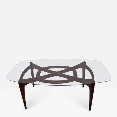 Adrian Pearsall Stunning Adrian Pearsall Midcentury Large Sculptural Walnut Dining Table