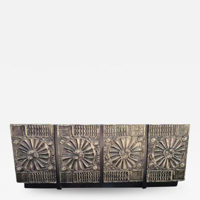 Adrian Pearsall Superb Adrian Pearsall Petite Brutalist Credenza or Console Mid Century Modern