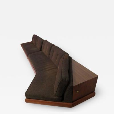 Adrian Pearsall Unusual Two Piece Adrian Pearsall Sofa Sectional Boomerang Mid Century Modern