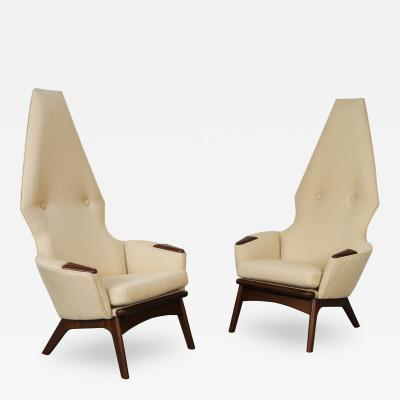 Adrian Pearsall Vintage High Back Lounge Chairs By Adrian Pearsall