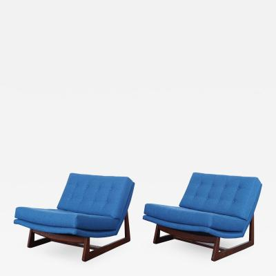 Adrian Pearsall Vintage Tufted Lounge Chairs
