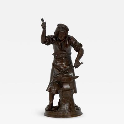 Adrienz tienne Gaudez Ferronier XVI Siecle Antique Bronze Sculpture by Adrien Etienne Gaudez