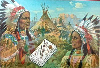 Advertising For Piedmont Cigarettes American Indian Theme Circa 1910