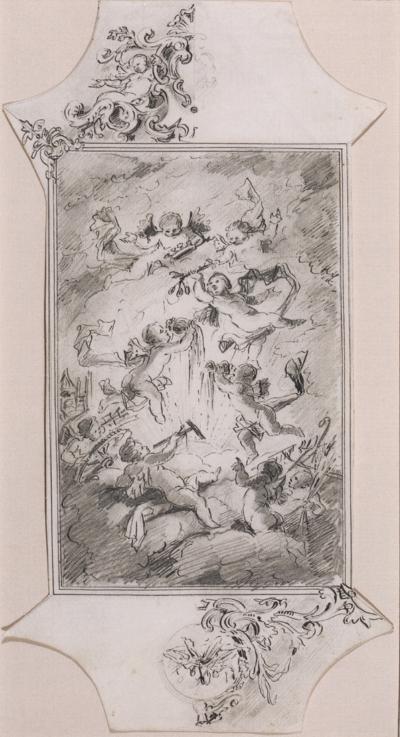 Aegidius Quirinus Asam Study for a Ceiling Fresco