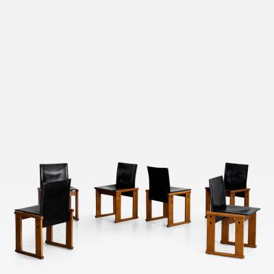 Afra Tobia Scarpa AFRA TOBIA SCARPA MONK CHAIRS SET OF 6
