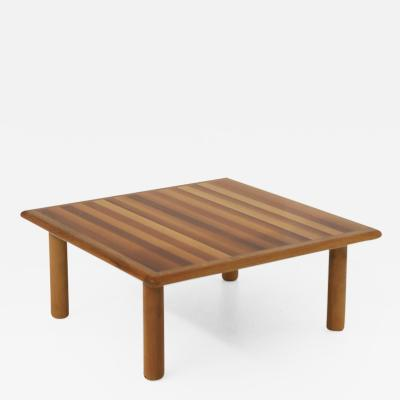 Afra Tobia Scarpa Afra Tobia Scarpa Italian Coffee Table for Cassina in Wood 1970s