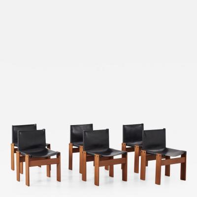 Afra Tobia Scarpa Afra Tobia Scarpa Monk black chairs Molteni Italy 1974