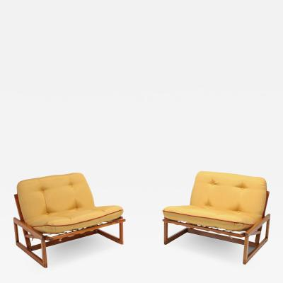 Afra Tobia Scarpa Afra Tobia Scarpa Pair of Carlotta Lounge Chairs for Cassina 1960s