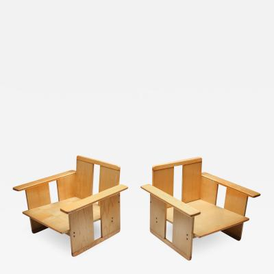 Afra Tobia Scarpa Afra Tobia Scarpa crate chairs Maxalto 1970s