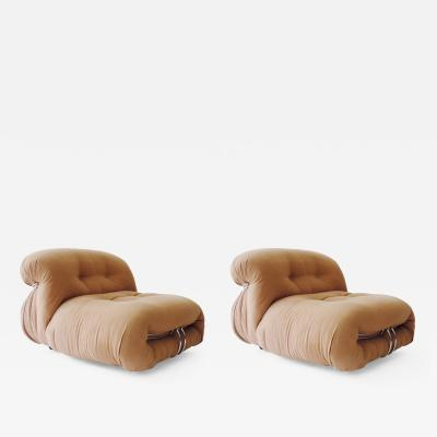 Afra Tobia Scarpa Afra Tobia Scarpa pair of Soriana lounge chairs Italy 1970s