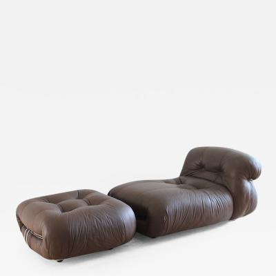 Afra Tobia Scarpa Afra and Tobia Scarpa Soriana Lounge Chair and Ottoman for Cassina