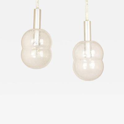 Afra Tobia Scarpa Bilobo Glass Pendants by Afra Tobia Scarpa for Flos circa 1970