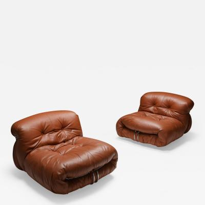 Afra Tobia Scarpa Cassina Soriana Lounge Chairs by Afra and Tobia Scarpa 1970s