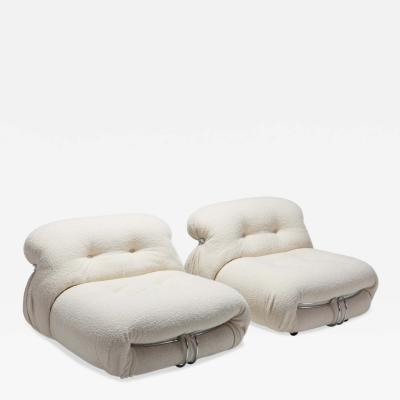 Afra Tobia Scarpa Cassina Soriana Pair of Lounge Chairs by Afra and Tobia Scarpa 1970s