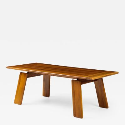 Afra Tobia Scarpa Italian Walnut Floating Dining Table by Afra and Tobia Scarpa for Mobil Girgi