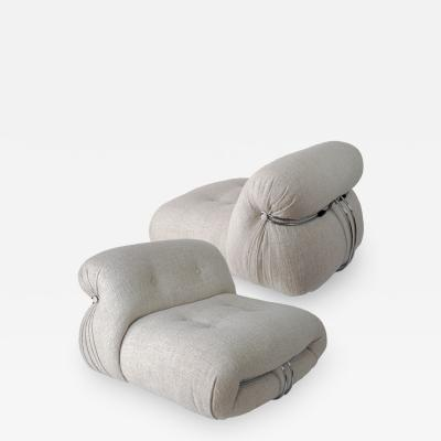 Afra Tobia Scarpa PAIR OF SORIANA SLIPPERS by Afra Tobia Scarpa Edition Cassina 1970