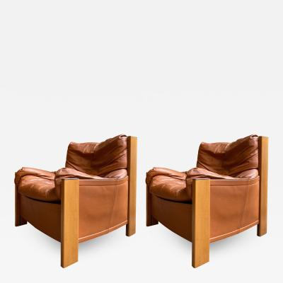 Afra Tobia Scarpa Pair of Armchairs Bergere by Afra Tobia Scarpa for Maxalto Italy 1970s