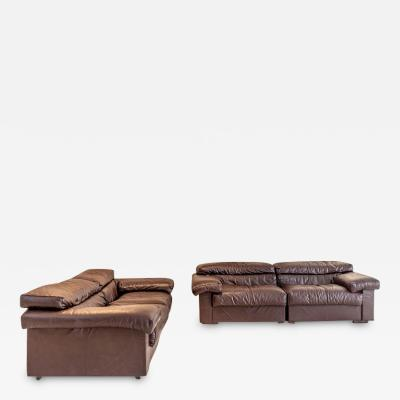 Afra Tobia Scarpa Pair of Erasmo Leather Sofas by Afra Tobia Scarpa for B B