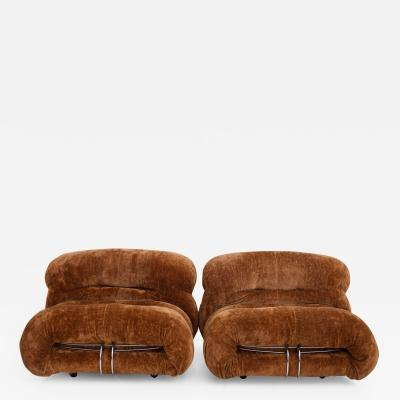 Afra Tobia Scarpa Pair of Soriana Lounge Chairs by Afra and Tobia Scarpa for Cassina