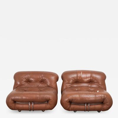 Afra Tobia Scarpa Pair of Soriana Lounge Chairs for Cassina