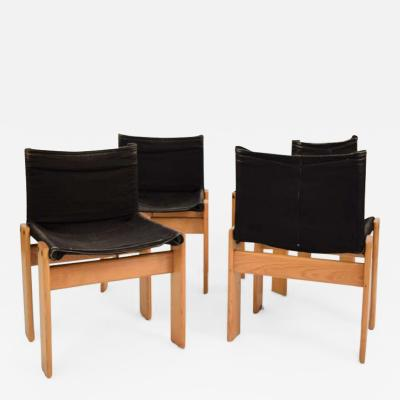 Afra Tobia Scarpa SET OF FOUR MONK CHAIRS
