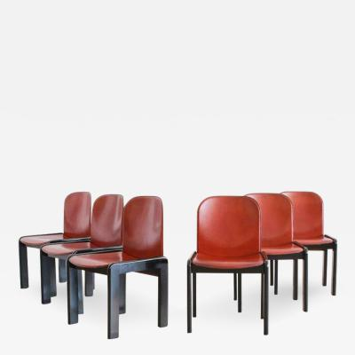 Afra Tobia Scarpa SET OF SIX AFRA TOBIA SCARPA CHAIRS