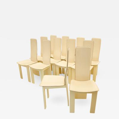 Afra Tobia Scarpa Set of 12 Dining Chairs attributed to Afra and Tobia Scarpa