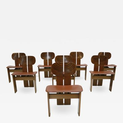 Afra Tobia Scarpa Set of Eight Africa Chairs Designed by Afra and Tobia Scarpa Italy 1970s