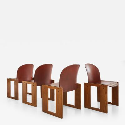 Afra Tobia Scarpa Set of Four Afra Tobia Scarpa Chairs