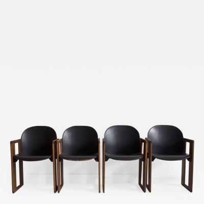 Afra Tobia Scarpa Set of Four Black Dialogo Chairs by Afra Tobia Scarpa