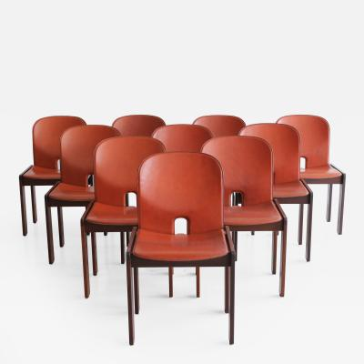Afra Tobia Scarpa Set of Ten Afra Tobia Scarpa Dining Chairs