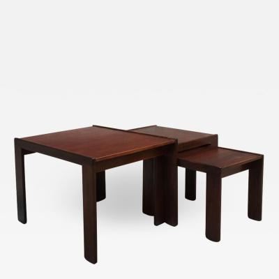 Afra Tobia Scarpa Set of three coffee tables mod 777 by Afra and Tobia Scarpa for Cassina 1965