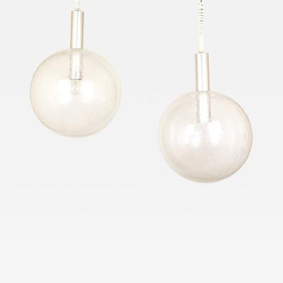 Afra Tobia Scarpa Sfera pendants 4 pieces by Afra Tobia Scarpa for Flos 1960s