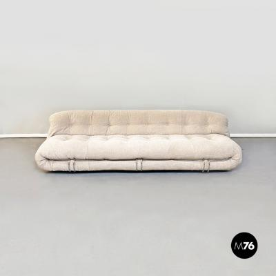 Afra Tobia Scarpa Three seater sofa Soriana by Afra and Tobia Scarpa for Cassina 1970s