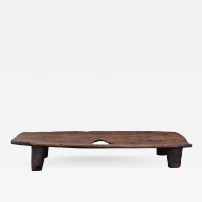 African Nupe Carved Wood Bed