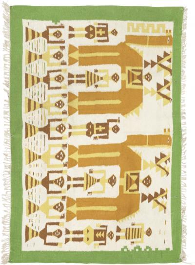 African woven carpet 70s
