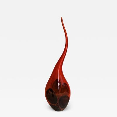 Afro Celotto Murano by Celotto Orange Vase