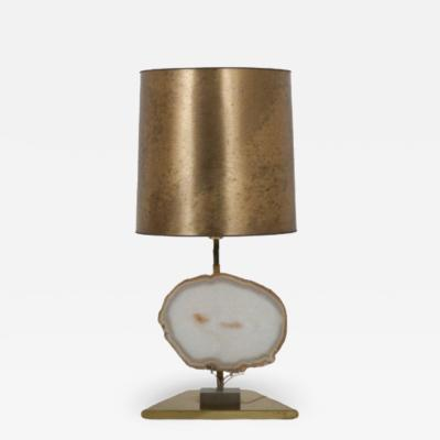 Agate Table Lamp from Belgium 1970