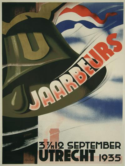 Agnes Canta Dutch Art Deco Period Event Poster by Agnes Canta 1935