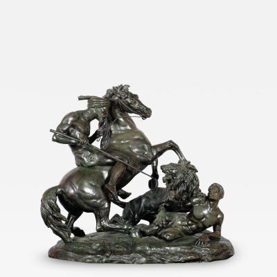 Aim Millet La Chasse Au Lion The Lion Hunt Monumental Bronze Sculpture after Aime Millet