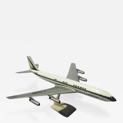 Air France Painted Metal Boeing 707 Desk Model