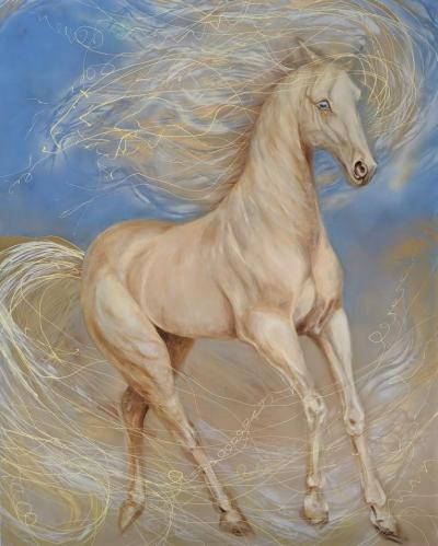 Akhal Teke Painting of a Horse